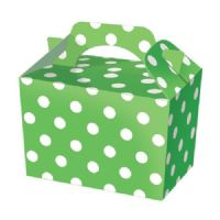 Green Polka Dot / Spot Meal Party Box